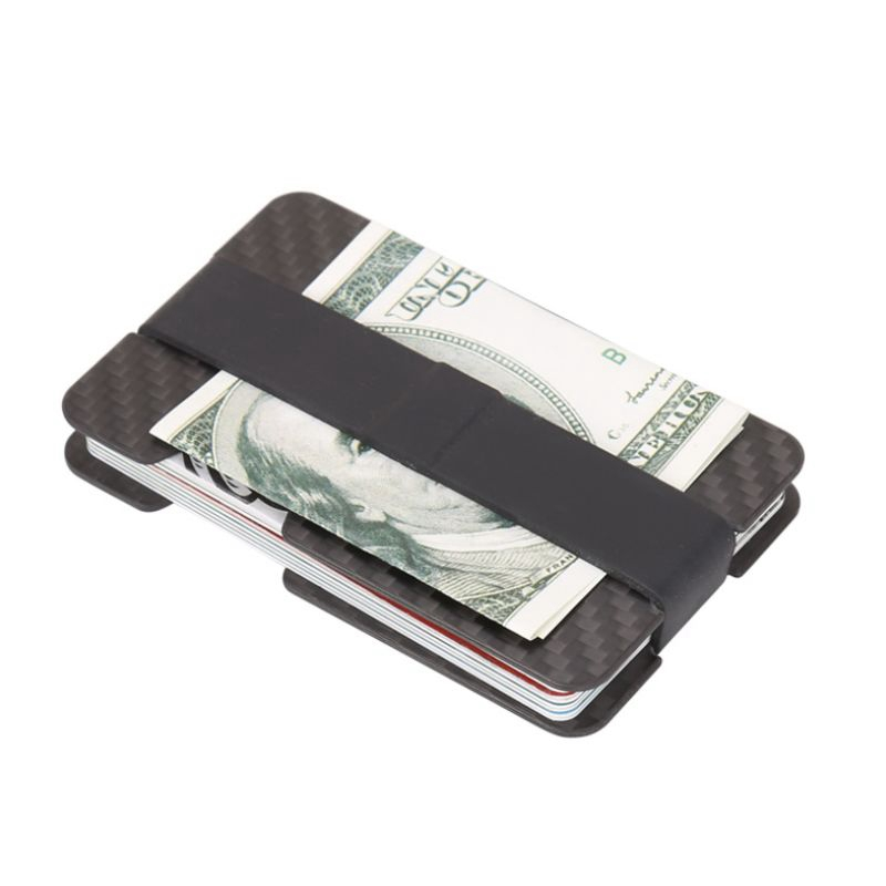 1pcs black Carbon Fiber Wallet Money Clip credit card holder Strong and Durable