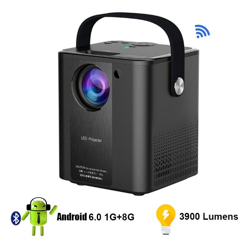 Светодиодный проектор Full HD, видеопроектор, Мобильный Wi-Fi мини портативный видеопроектор для дома PR59001
