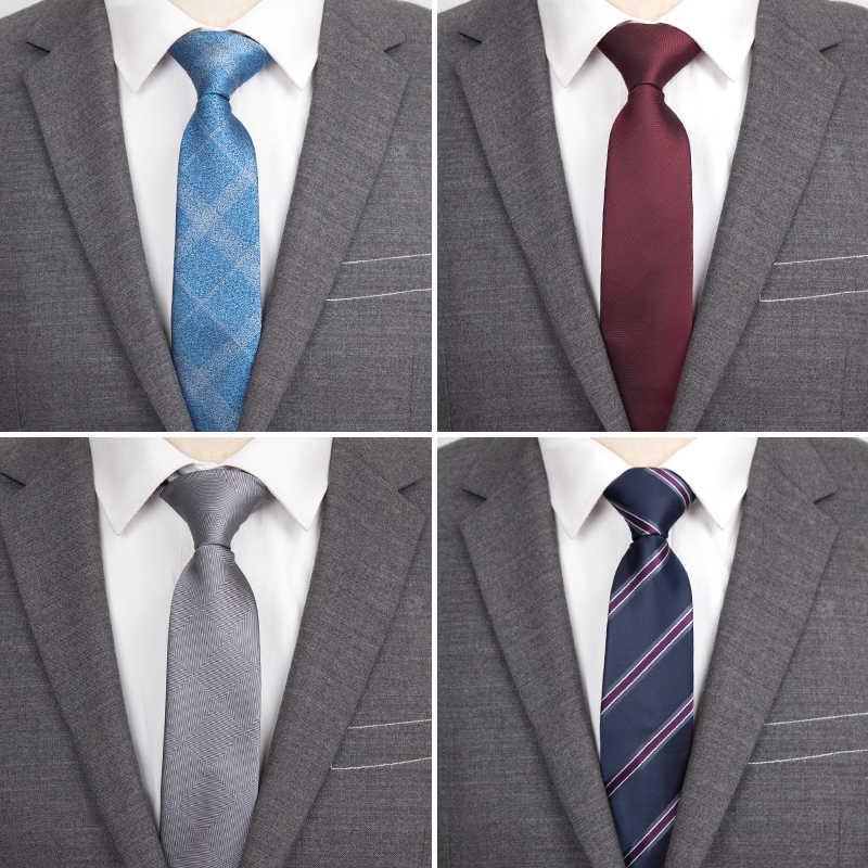 ผู้ชาย Tie แฟชั่นหรูหรา Skinny Ties สำหรับผู้ชาย Jacquard Tie ธุรกิจชุดแต่งงานลายอุปกรณ์เสริมของขวัญเนคไท