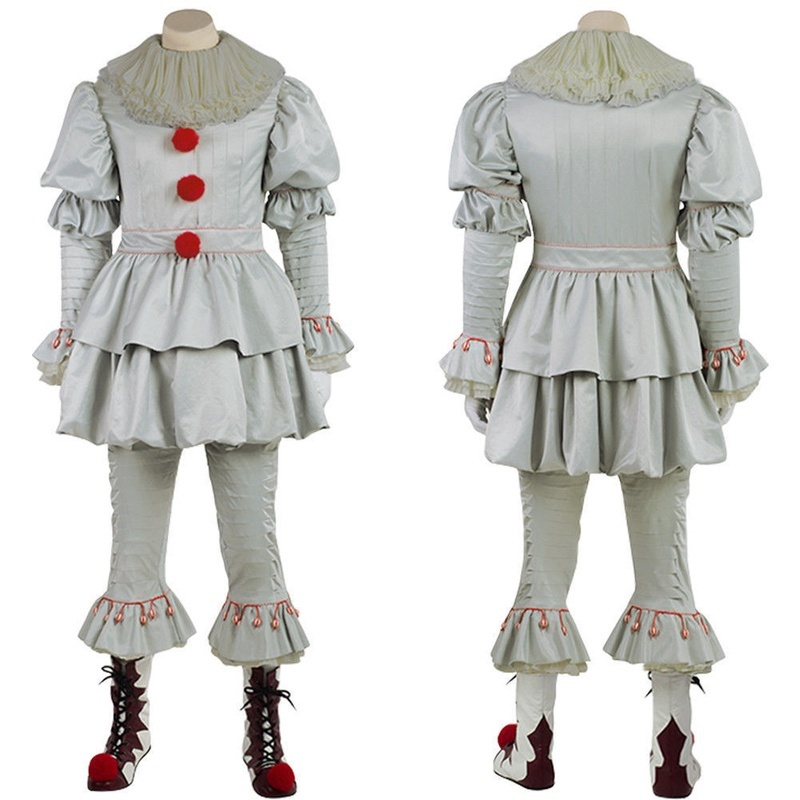 Halloween Penny Wise Costume IT Cosplay Scary Clown  Fancy Dress Plus The Dancing Clown