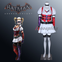 [Customized] Anime Harley Quinn Shrink White Nurse Dress Full Set Cosplay Costume Women Halloween Free Shipping 2019 NEW.