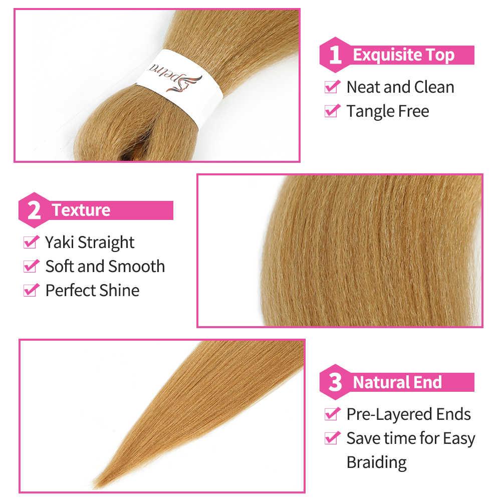SOKU łatwe włosy syntetyczne do warkoczy 8 wiązek Yaki proste doczepiane włosy do warkoczy EZ warkocz Ombre DIY Jumbo szydełkowe pudełko warkocze
