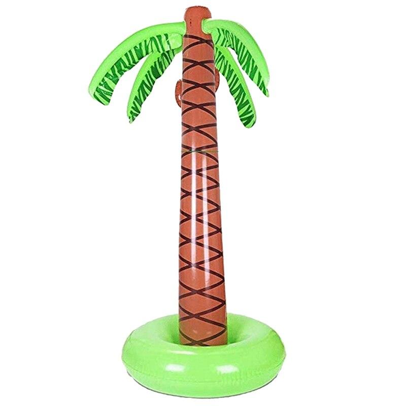 Water Spray Palm Tree Inflatable 63 Inch Toy Water Spray Toy Outdoor Backyard Children Water Sprayer Coconut Water Spray