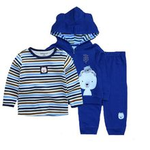Clothing-Set Bodysuit-Pants Baby-Boy Coat Newborn Winter Cotton 3pcs 12-24M