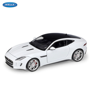 цена на WELLY 1:24 JAGUAR F-Type Coupe sports car simulation alloy car model crafts decoration collection toy tools gift