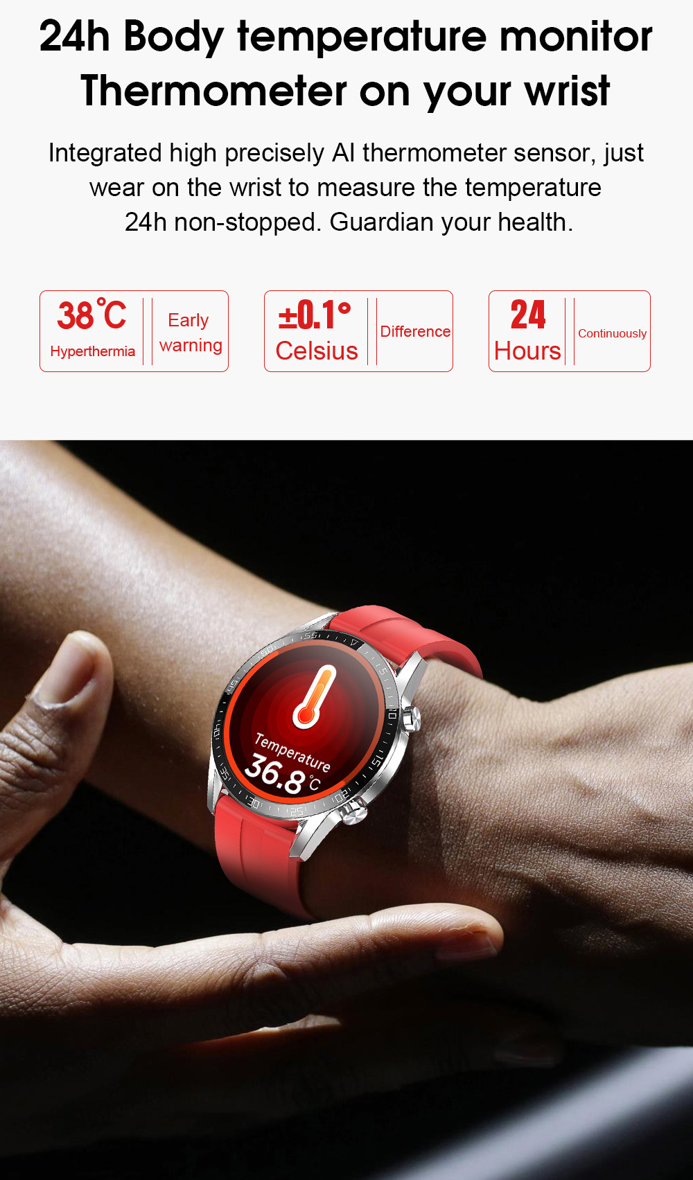 Ha8b1abe80c7e43fbab4a84a2b2dd21080 IPbzhe Smart Watch Men Thermometer ECG Smart Watch IP68 Waterproof Blood Pressure Smartwatch Reloj Inteligente For Huawei Xiaomi