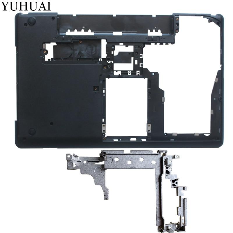 NEW For Thinkpad Lenovo E530 E535 E530C E545 Bottom Case Cover AP0NV000300/ Laptop Bottom Hinge Brackt AM0NV000700