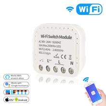 Commutateur WiFi eWeLink 1/2 voies 90-264V, Module de commutation Wifi, disjoncteur Tuya Smart Life, fonctionne avec Alexa Google Home