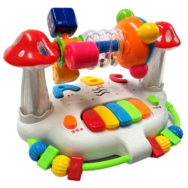 Baby 0-12 maanden vroege onderwijs onderwijs baby speelgoed muziekdoos multifunctionele zingen baby speelgoed slapen lullaby 1
