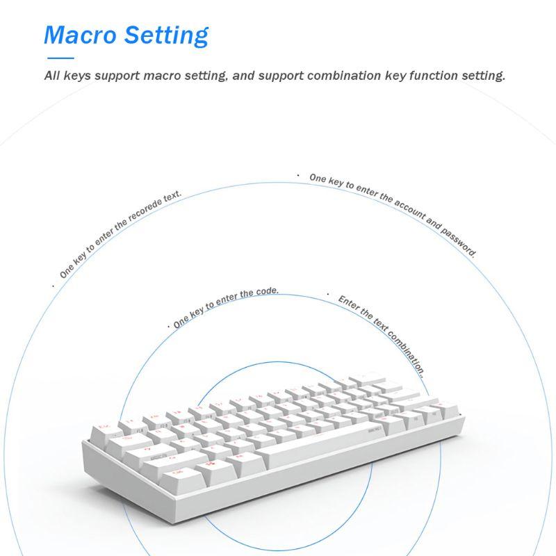 Image 2 - Anne Pro 2 Keyboard Bluetooth 4.0 Type C RGB 61 Keys Mechanical Gaming Keyboard Cherry Switch Gateron Switch Kailh SwitchKeyboards   - AliExpress