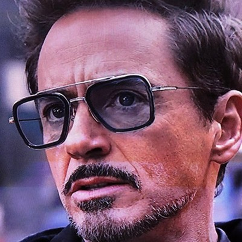 Men Sunglasses Tony Stark Iron Man Sunglass Retro Vintage Eyewear Steam Punk