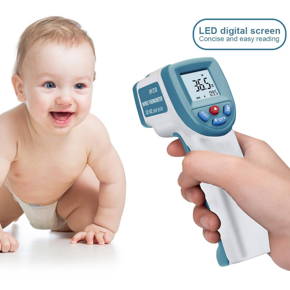 Forehead Infrared Thermometer Fast Accurate Measurement Digital LCD Non-contact Infrared Forehead Thermometer KN95 Mask
