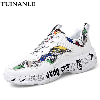 TUINANLE Sneakers Women Autumn Woman Casual Fashion Shoes Size 35-43 Graffiti Ladies Vulcanized Shoes White Sneakers Lover Shoes