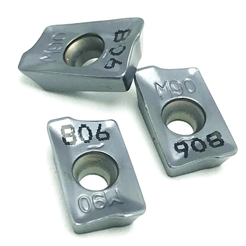 50PCS Milling Tool APKT1003 PDER IC908 Internal Turning Tool APKT 1003 Metal Lathe Tools Carbide Inserts CNC Lathe Parts