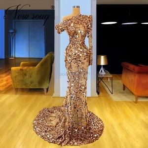 Image 2 - ใหม่ดูไบผู้หญิงที่มีชื่อเสียงชุดชุดราตรี Elegant ดูผ่านแอฟริกันอิสลาม PROM Dresses ชุดราตรี 2020 Robe De Soiree