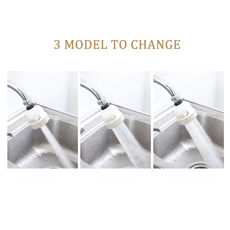 360° Rotate Kitchen Shower Faucet Tap Adjusting 3 Level Water Saving Bathroom Shower Faucet filtered Faucet Accessories VIP link 5