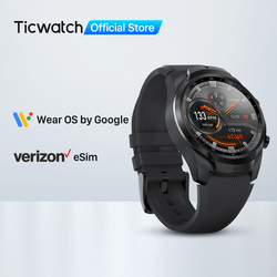 TicWatch Pro 4G/LTE US-Verizon Smartwatch for Men 1GB RAM Sleep Tracking Swim-Ready IP68 Waterproof Watch NFC Long Battery Life