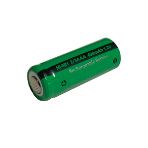 Image 3 - 10pcs 2/3 aaa  battery 400mah 1.2v nimh 2 3 aaa rechargeable batteries flat top for solar light toys
