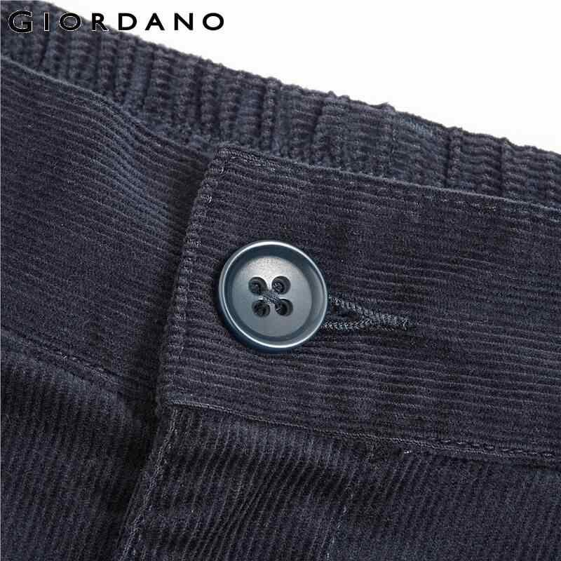 ジョルダーノ女性のパンツ厚いコーデュロイ固体ズボン女性マルチポケットフライカジュアル暖かい Pantalones デ Mujer 13419802