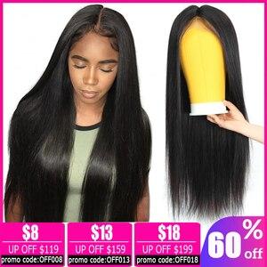 13x4 em linha reta peruca dianteira do laço peruca brasileira curto frente do laço perucas de cabelo humano para as mulheres pixie corte peruca bob frente do laço perucas não remy