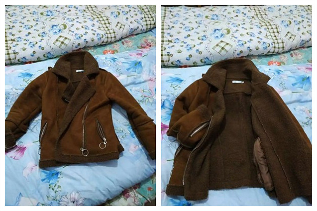 Jaqueta de couro falso plus size de