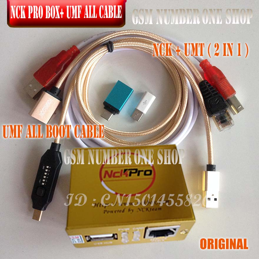 2019 Newest Original NCK Pro Box NCK Pro2 Box + Umf ALL BOOT CABLE ( NCK+UMT  2 In1 ) Free Shipping