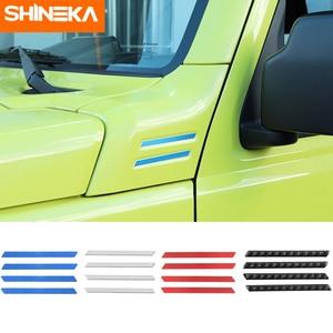 Image 1 - SHINEKA Carbon Fiber Sticker Car A pillar Corner Decorative Cover for Suzuki Jimny 2019 2020 Aluminum Alloy Exterior Accessories