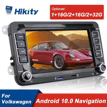 Hikity Android 10 Autoradio 7 Car Multimedia player 2 Din GPS Radio For VW/Volkswagen/Golf/Polo/Passat/b7/b6/SEAT/leon/Skoda image