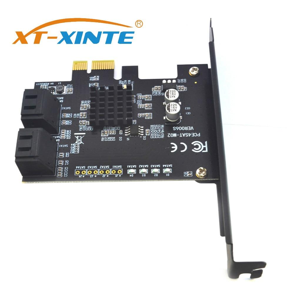 Chip para Hdd Pci-express Placa Controladora Sata 4 Xt-xinte Portas Suportam Pci Express x1 x2 x4 x8 X16 Motherboard 88se9215 Ssd Iii