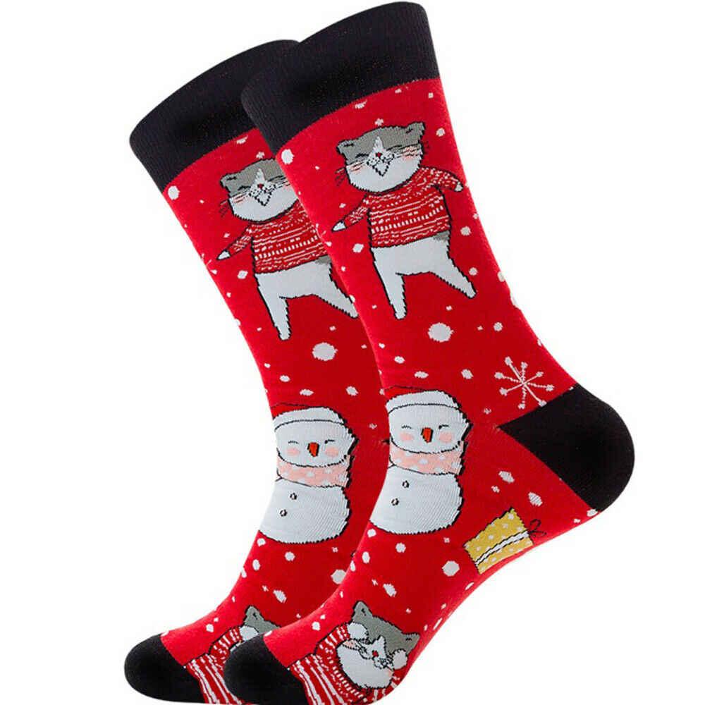素敵なクリスマス靴下女性男性ギフトサンタクロース鹿暖かい冬クリスマスおかしいソックス