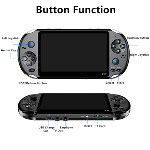Image 5 - X12 Handheld Game Console 8G 32/64/128 Bit  HD Color LCD Screen 3000+ Games Kid Video Retro Portable Handheld Game Player on TV