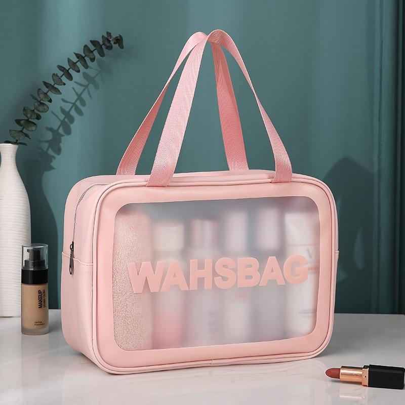 Large Waterproof Transparent PVC Cosmetic Bag Women Make Up Case Travel Zipper Makeup Beauty Wash Organizer Toiletry Storage Kit