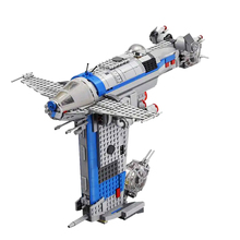 New 810pcs Star Wars Toys Resistance Bomber Compatible Lepining Star Wars 75188 Building Blocks Toys for Children Birthday Gift free shipping star wars captain rex s at te 05032 740pcs building blocks compatible with 75157 star wars boys toys gift