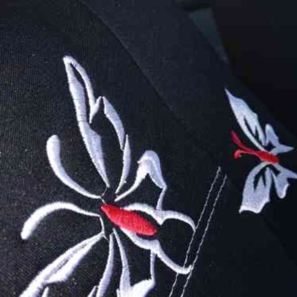 Car-Seat-Cover Fit Interior-Accessories Universal Black Embroidered Most-Vehicles Butterfly