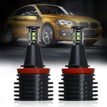 2pcs Car Angel Eyes Light Headlight for BMW E60 E61 E63 E70 E71 E82 E87 E89 E91 E92 E93 Headlamp high quality e92 angel eye 40w for bmw e60 e61 e63 e64 e70 x5 e71 x6 e82 e87 e89 z4 e92 m3 e93 xenon white 6000k led marker