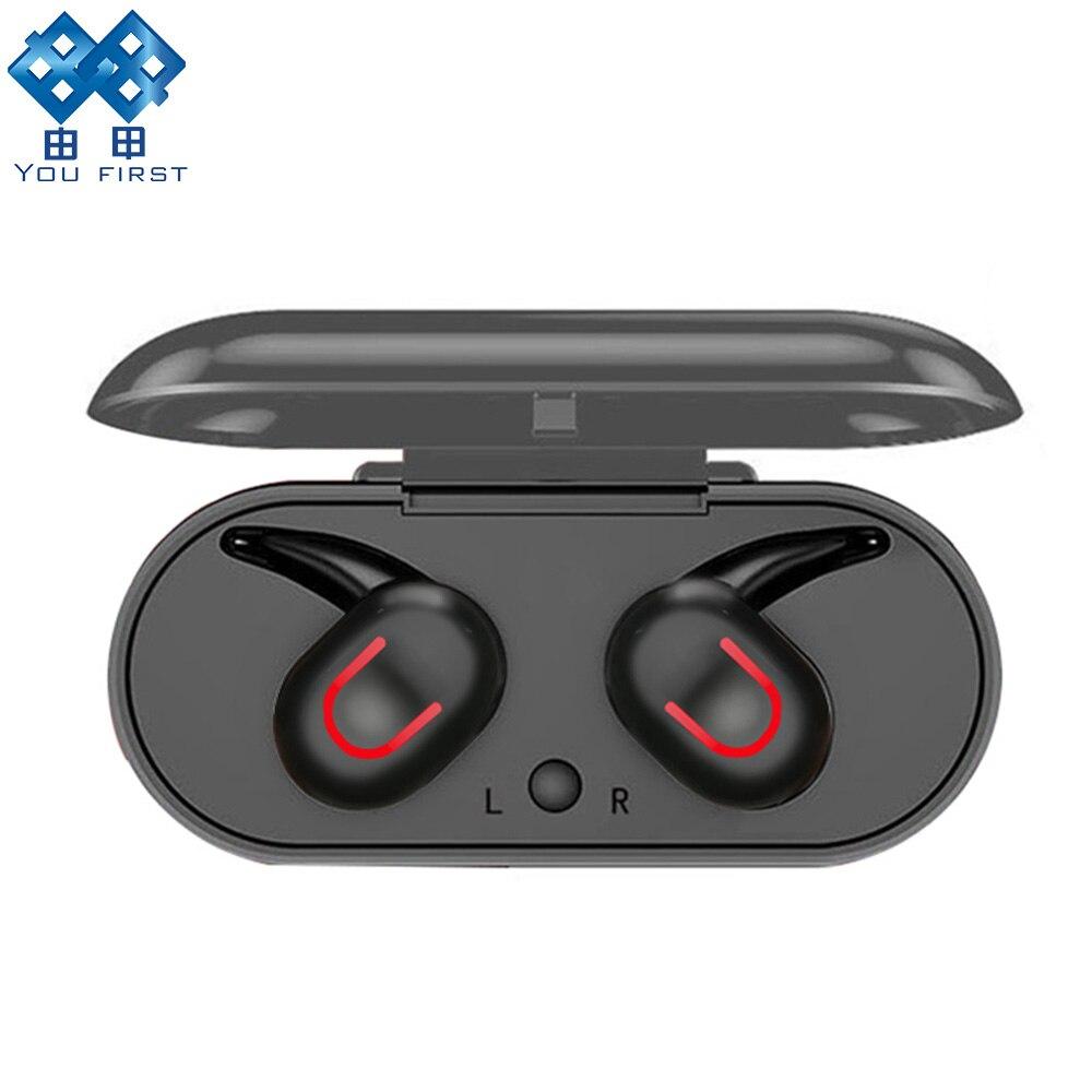 YOU FIRST Drahtlose Bluetooth Kopfhörer Sport Stereo TWS Bluetooth Kopfhörer 5,0 Ohrhörer Drahtlose Kopfhörer Bluetooth Headset