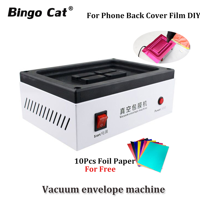 VEM01 Mobile Phone Vacuum Envelope Machine Automatic Vacuum Back Cover Film Coating Machine For IPhone SAMSUNG HUAWEI And Tablet