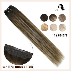 Hair-Extensions Halo Fish-Line No-Clip Bayalage-Color One-Piece Remy Full-Shine Machine-Made