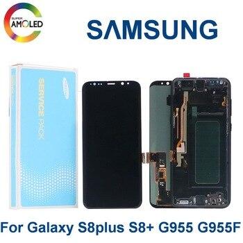Original AMOLED S8 PLUS LCD Display For Samsung Galaxy S8+ G955 G955A G955U G955V SM-G955FD LCD display touch screen Dead pixel смартфон samsung galaxy s8 plus sm g955 титан