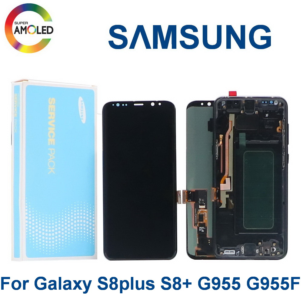 Original AMOLED <font><b>S8</b></font> PLUS LCD <font><b>Display</b></font> For Samsung <font><b>Galaxy</b></font> <font><b>S8</b></font>+ G955 G955A G955U G955V SM-G955FD LCD <font><b>display</b></font> touch screen Dead pixel image