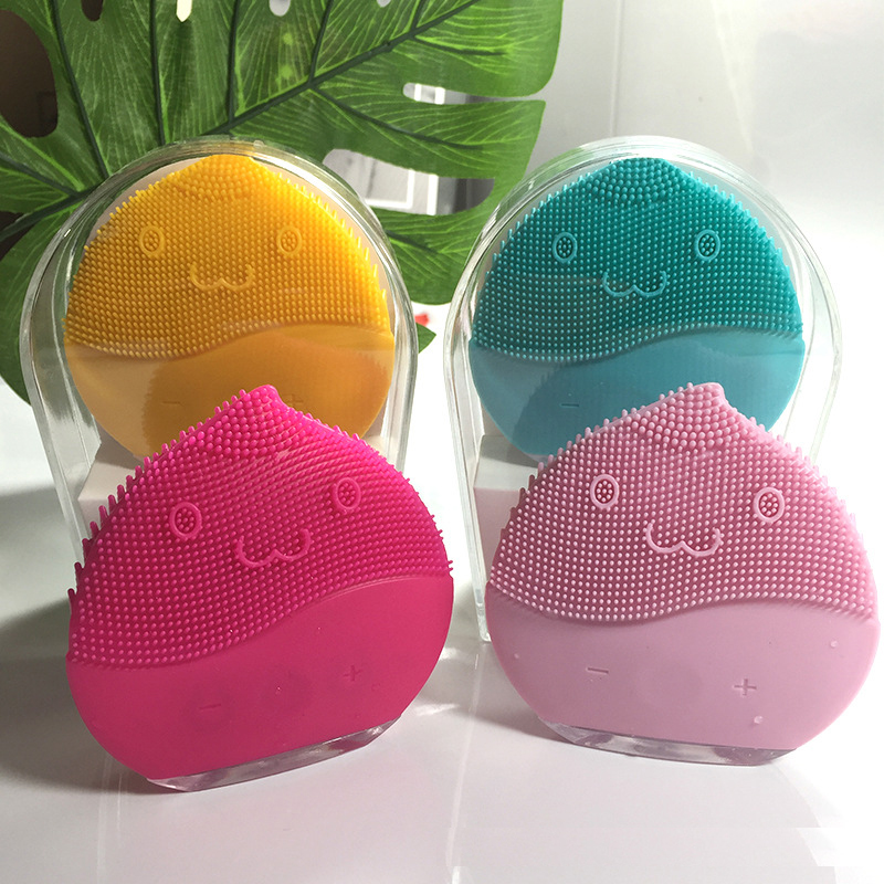 Electric Cleanser Face Cleansing Brush Electric Silicone Wash Brush Face Pore Cleaner Waterproof Face Massager