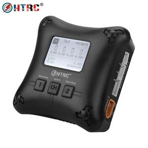 Image 1 - Carregador htrc h4ac duo mini porta dupla, carregador lipo 20w x2 2a x2 para 2 4s carregador de bateria profissional lipo,