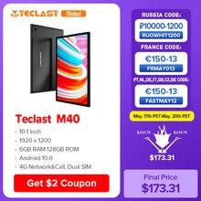 Teclast M40 10,1 Zoll Tablet 1920x1200 6GB RAM 128GB ROM 4G Netzwerk & Anruf Dual SIM Octa Core Android 10 Tabletten PC 8MP Kamera