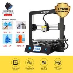 ANYCUBIC Mega S 3D принтер I3 Mega обновление DIY полностью металлическая рамка Impresora TFT сенсорный экран Высокая точность 3d принтер экструдер