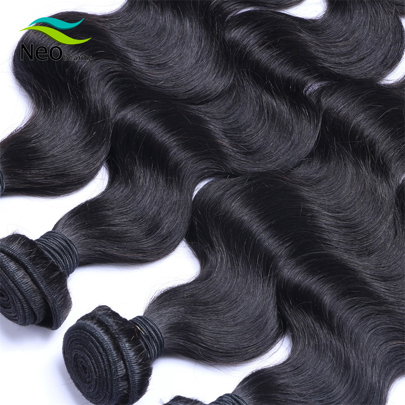 Neobeauty 8 - 40 Inch Brazilian Hair Weave Bundles Body Wave Human Hair 1/3/4 Bundles Natural Color Remy Hair Extensions