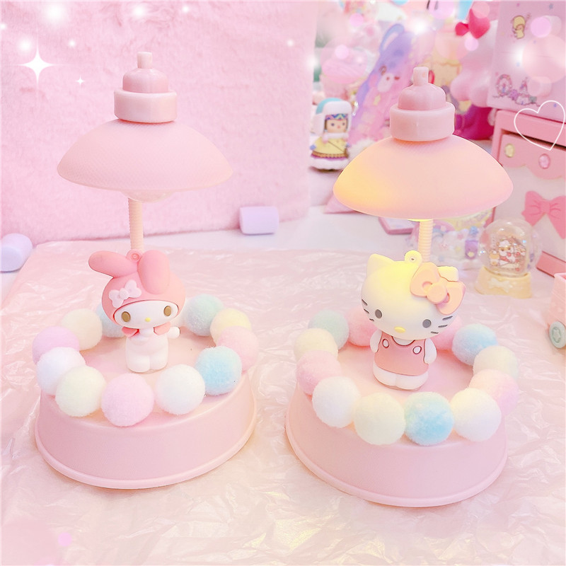 1PC Lovely Melody LED Colorful Night Light Animal Cat Silicone Soft Cartoon Baby Child Nursery Lamp For Girls Gifts