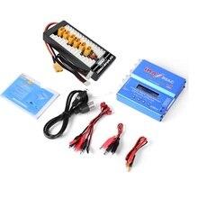 Imax b6ac 80w 6a carregador de equilíbrio de canal duplo para bateria li ion nimh nicd lipo + placa de carregamento paralela/monitor de tensão