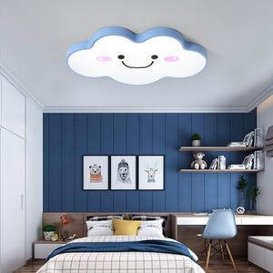 Princess Baby Girls Boys Kids Child Children's Room Light Bedroom Nursery Ceiling Lighting Cartoon Cloud Led Ceiling Light Lamp(China)