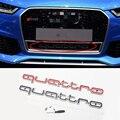 3D Автомобильная Наклейка ABS Авто решетка Эмблема Quattro наклейки для Audi Sline Quattor значок A3 A4 A5 A6 A7 A8 Q3 Q5 Q7 S3 S4 S5 S6 RS3 RS4