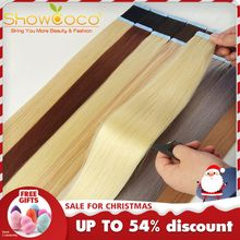 Hair-Extensions Adhesive-Tape Showcoco-Tape Human-Hair Machine-Made Remy Double-Sided